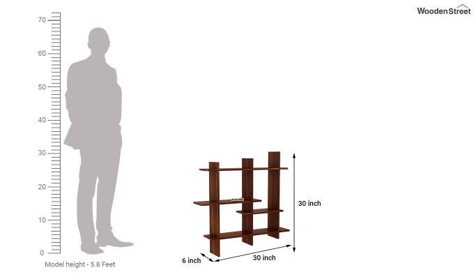Caplan Wall Shelf (Honey Finish)-4