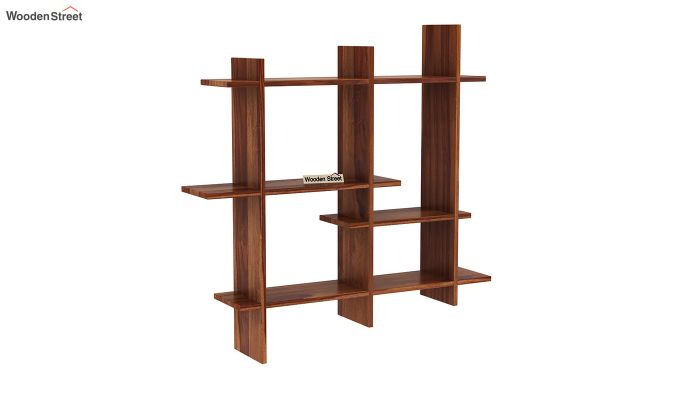 Caplan Wall Shelf (Teak Finish)-2