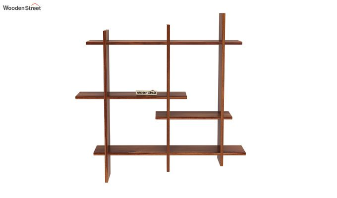 Caplan Wall Shelf (Teak Finish)-3