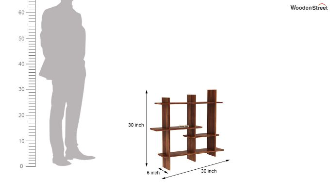 Caplan Wall Shelf (Teak Finish)-4