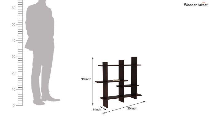 Caplan Wall Shelf (Walnut Finish)-4
