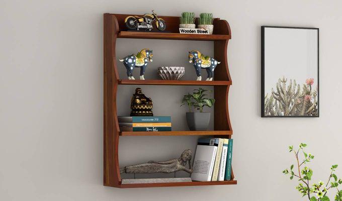 Cascade Wall Shelf (Honey Finish)-1