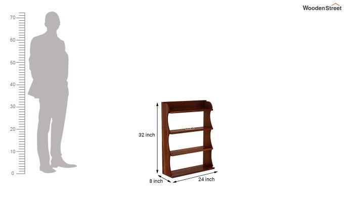 Cascade Wall Shelf (Honey Finish)-4