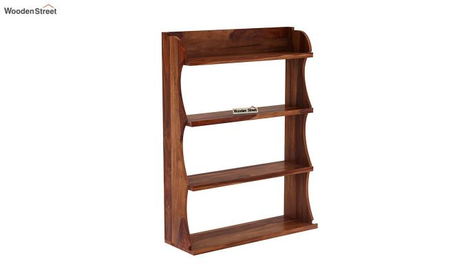 Cascade Wall Shelf (Teak Finish)-2