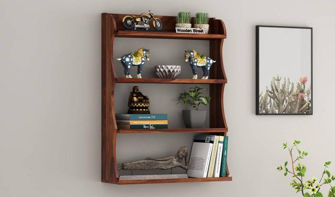 Cascade Wall Shelf (Teak Finish)-1