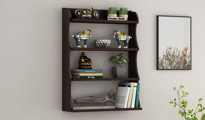 Cascade Wall Shelf (Walnut Finish)-1