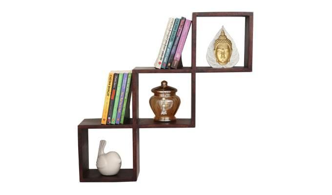 Cassain Wall Cabinets (Mahogany Finish)-1