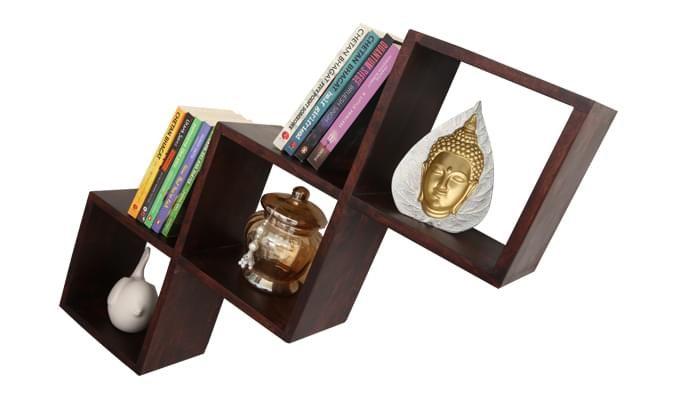 Cassain Wall Cabinets (Mahogany Finish)-2