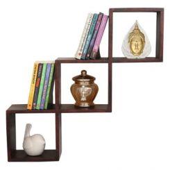 Cassain Wall Cabinets (Mahogany Finish)