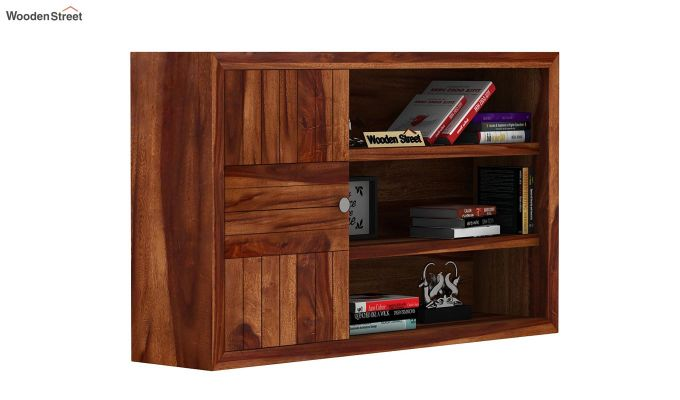 Claudia Wall Shelf (Teak Finish)-2