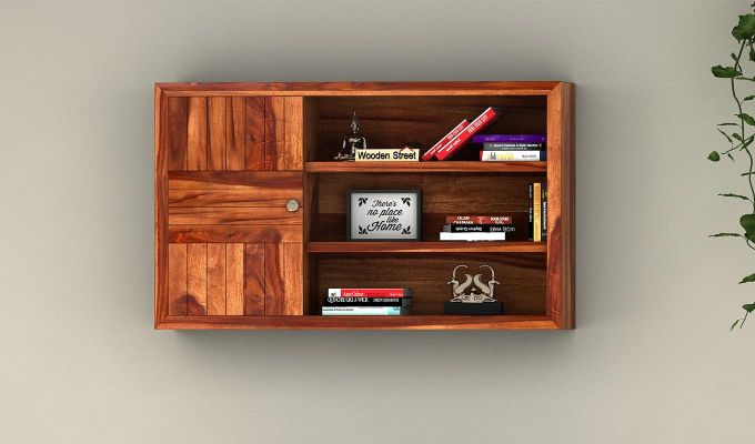 Claudia Wall Shelf (Teak Finish)-1