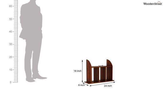 Frontus Wall Shelf (Honey Finish)-4