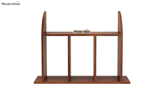 Frontus Wall Shelf (Teak Finish)-3