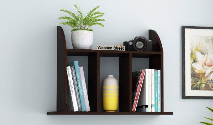 Frontus Wall Shelf (Walnut Finish)-1