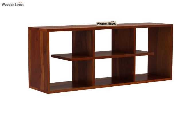 Grill Wall Shelf (Honey Finish)-2