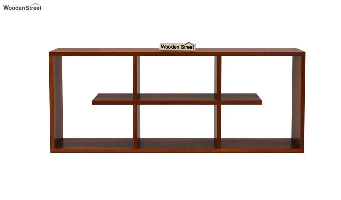 Grill Wall Shelf (Honey Finish)-3