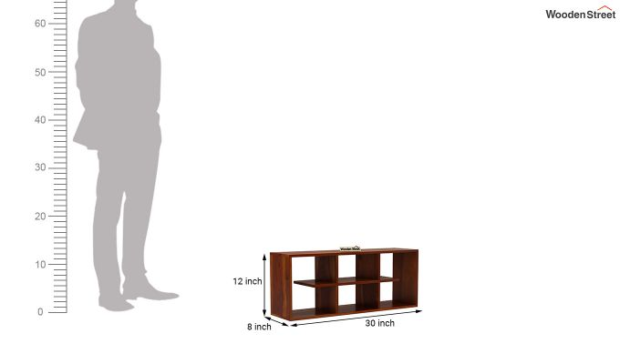 Grill Wall Shelf (Honey Finish)-4