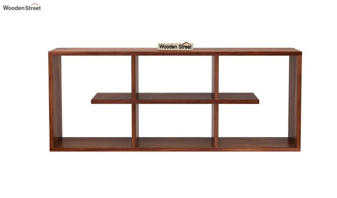 Grill Wall Shelf (Teak Finish)-3