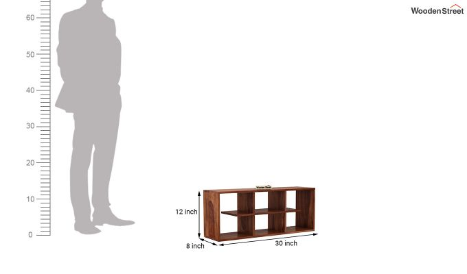 Grill Wall Shelf (Teak Finish)-4