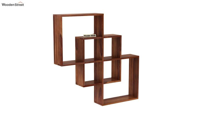 Grizzo Wall Shelf (Teak Finish)-2