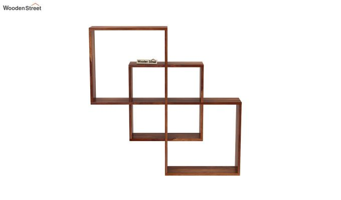 Grizzo Wall Shelf (Teak Finish)-3