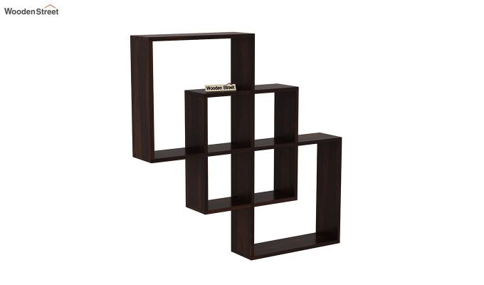 Grizzo Wall Shelf (Walnut Finish)-2