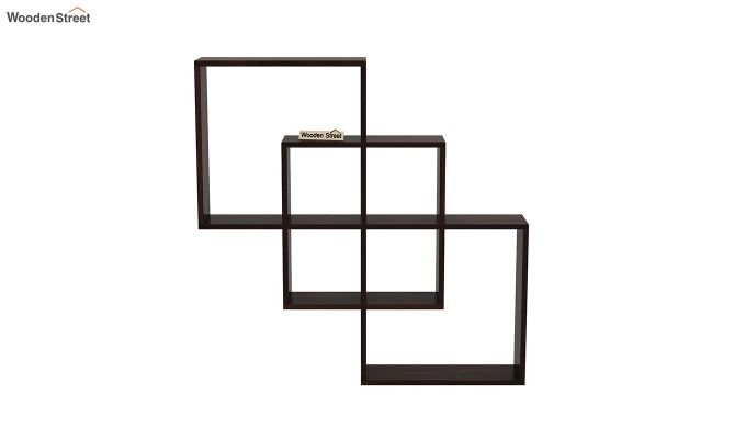 Grizzo Wall Shelf (Walnut Finish)-3