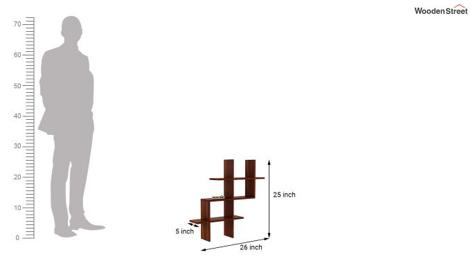Helio Wall Shelf (Honey Finish)-4