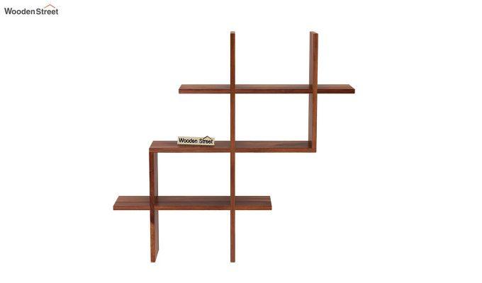 Helio Wall Shelf (Teak Finish)-3