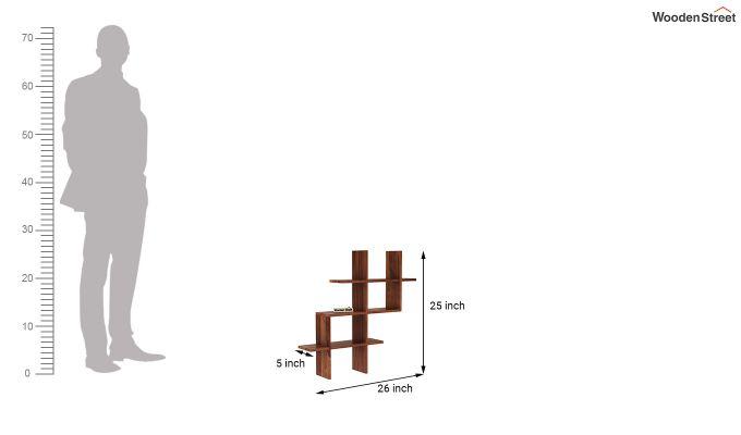 Helio Wall Shelf (Teak Finish)-4