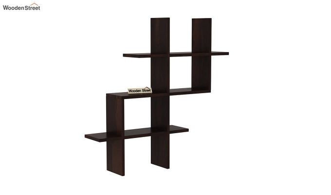 Helio Wall Shelf (Walnut Finish)-2