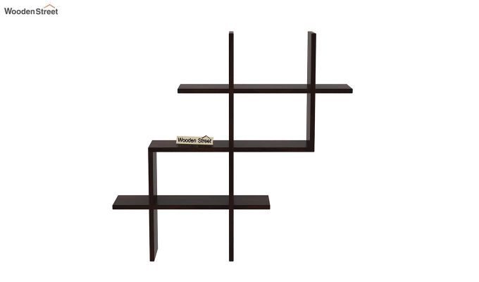 Helio Wall Shelf (Walnut Finish)-3