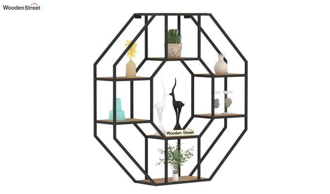 Hooper Hexagon Loft Wall Shelves (Natural Finish)-2