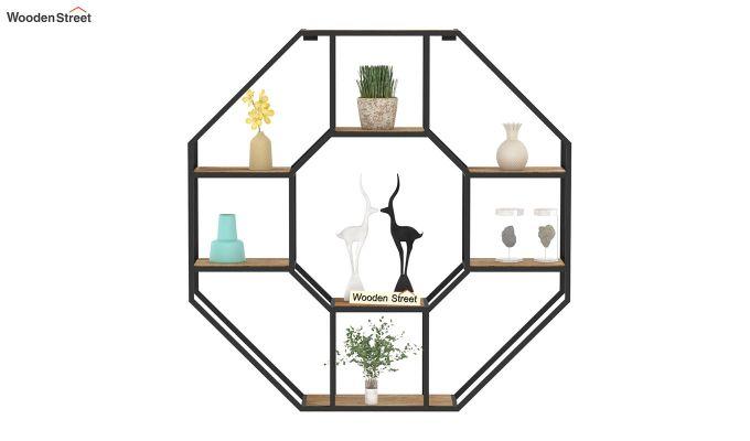 Hooper Hexagon Loft Wall Shelves (Natural Finish)-3