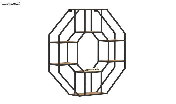 Hooper Hexagon Loft Wall Shelves (Natural Finish)-4
