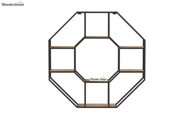 Hooper Hexagon Loft Wall Shelves (Natural Finish)-5