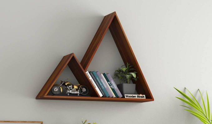 Itzel Wall Shelf (Honey Finish)-1