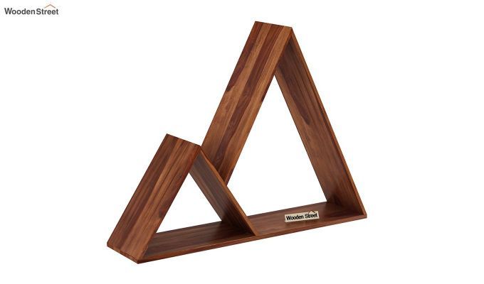 Itzel Wall Shelf (Teak Finish)-2