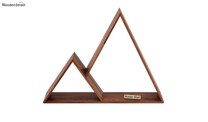 Itzel Wall Shelf (Teak Finish)-3