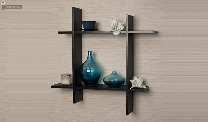Keith Wall Shelves (Black Finish)-1