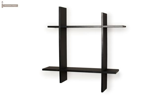 Keith Wall Shelves (Black Finish)-2