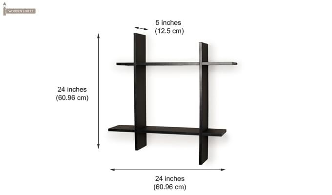 Keith Wall Shelves (Black Finish)-3