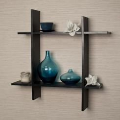 Keith Wall Shelves (Black Finish)