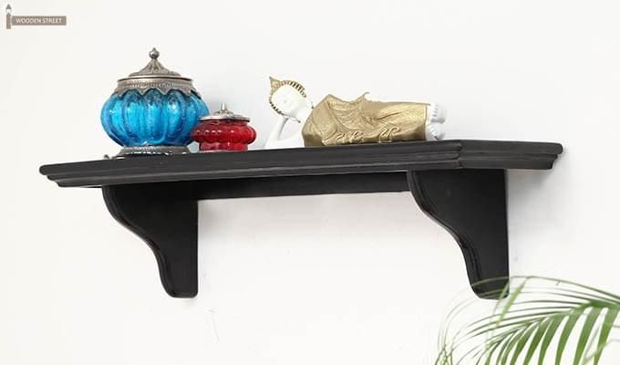 Keller Wall Shelves (Black Finish)-1