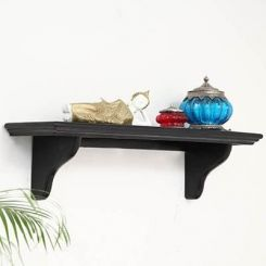 Keller Wall Shelves (Black Finish)