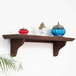 Keller Wall Shelves (Teak Finish)