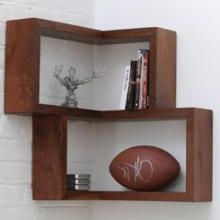 Lacosa Wall Shelves (Mahogany Finish)