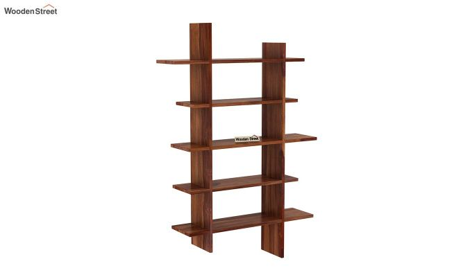 Lado Wall Shelf (Teak Finish)-2