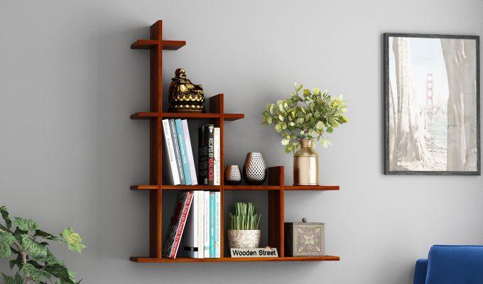 Levant Wall Shelf (Honey Finish)-1