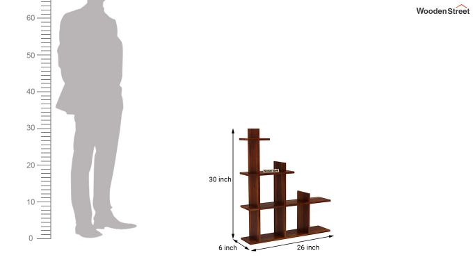 Levant Wall Shelf (Honey Finish)-4